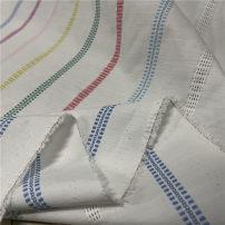 Fabric / fabric / handmade DIY fabric hemp Loose shear rice Geometric pattern jacquard weave clothing Europe and America DIY