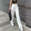 Jeans Summer 2020 White, black S,M,L trousers High waist Wide legged trousers routine 18-24 years old Cotton denim light colour 96% and above