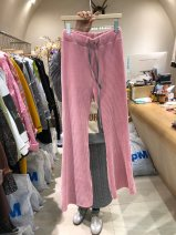 Casual pants S,M,L,XL Spring 2021 trousers Wide leg pants High waist commute routine 25-29 years old 96% and above corduroy Korean version Bandage cotton