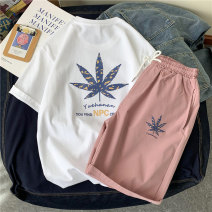 T-shirt Youth fashion routine S M L XL XXL 3XL Young master Kaikai Short sleeve Crew neck easy daily summer KKGZTXTZ88659 Cotton 100% teenagers routine Basic public Summer 2021 Plants and flowers printing cotton Plants and flowers No iron treatment Pure e-commerce (online only) More than 95%