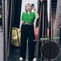 Women's large Spring 2021, summer 2021 Obsidian Large XL, large XXL, large XXL, large 4XL trousers singleton  commute easy thin Others, letters Korean version Others, cotton Three dimensional cutting 25-29 years old trousers