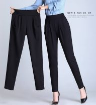 Casual pants Black nine point Harem Pants with cashmere 912, black nine point Harem Pants without cashmere 912 Spring 2021 Ninth pants Haren pants High waist Versatile Thin money 35-39 years old 96% and above Haren pants Other / other nylon Three dimensional cutting nylon