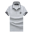 Polo shirt Piplan Youth fashion routine White, black, grey M,L,XL,2XL standard Other leisure summer Short sleeve tide routine youth 2021 Solid color No iron treatment Metal decoration
