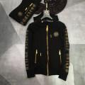 Sweater Youth fashion Piplan black M,L,XL,2XL,3XL originality Cardigan routine Hood winter Slim fit leisure time youth tide routine Fleece  cotton No iron treatment More than 95%