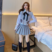 Fashion suit Winter 2020 S. M, l, average size Single gray vest, Vest + shirt, Vest + shirt + skirt, Vest + shirt + skirt + socks 18-25 years old Other / other b1207