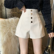 Casual pants Apricot, black S,M,L Winter 2020 shorts Wide leg pants High waist commute 18-24 years old D1220 Korean version