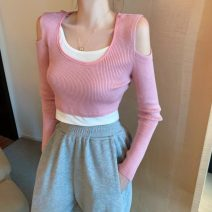 Wool knitwear Winter 2020 Average size Grey, pink, black Long sleeves Fake two pieces Socket other 31% (inclusive) - 50% (inclusive) have cash less than that is registered in the accounts commute Self cultivation Solid color D1225 18-24 years old