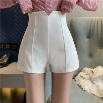 Casual pants White, black S,M,L,XL Spring 2021 shorts Wide leg pants High waist commute 18-24 years old 51% (inclusive) - 70% (inclusive) D1231 polyester fiber Asymmetry