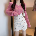 Fashion suit Summer 2020 S. M, l, average size Pink top, white top, black skirt, white skirt 18-25 years old #0731