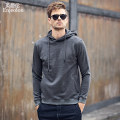 Sweater Youth fashion Enjeolon / enjeolon Light grey, black, coffee, white, apricot, dark grey, dark grey (plush), light grey (plush), no hat 170/M,175/L,180/XL,185/XXL,190/XXXL Solid color Socket routine Hood spring Straight cylinder leisure time youth American leisure routine WY104 Cotton 100%