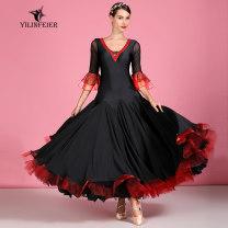 Modern dance suit (including performance clothes) Elaine freer Waltz Tango Foxtrot female black S M L XL XXL other S7039 Autumn of 2019