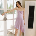 Dress Summer 2021 Green, purple XS,S,M,L,XL Short skirt singleton  Sleeveless commute other High waist Solid color Socket A-line skirt routine camisole Type A Simplicity More than 95% other other