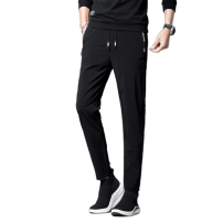 Casual pants Others Youth fashion black 5XL,4XL,3XL,2XL,XL,L,M thin trousers Other leisure Straight cylinder Micro bomb summer youth Basic public 2021 middle-waisted Straight cylinder Sports pants Pocket decoration No iron treatment other polyester fiber polyester fiber Fashion brand