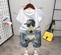 suit Other / other 90cm,100cm,110cm,120cm,130cm male summer Korean version Short sleeve + pants 2 pieces routine No model Socket nothing Cartoon animation children Expression of love Class A Other 100% 18 months, 2 years old, 3 years old, 4 years old, 5 years old, 6 years old, 7 years old