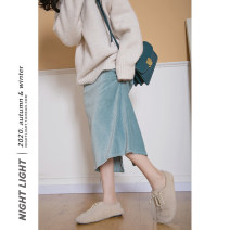 skirt Winter 2020 S, M Black, pink, blue and green Mid length dress High waist A-line skirt Solid color Type H 18-24 years old 202-185-10 51% (inclusive) - 70% (inclusive) corduroy Other / other other
