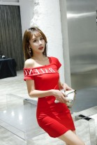 Dress Summer 2020 Black, white, red L,M,S,XL Short skirt singleton  Short sleeve commute Slant collar middle-waisted Solid color Socket One pace skirt other Others Type H Korean version 51% (inclusive) - 70% (inclusive) brocade