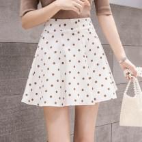 skirt Summer 2021 S,M,L,XL Apricot, black Short skirt commute High waist Fluffy skirt Dot Type A 18-24 years old M425 51% (inclusive) - 70% (inclusive) other Other / other other Korean version