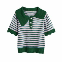 Wool knitwear Summer 2021 S,M,L As shown in the figure Short sleeve singleton  Socket other 81% (inclusive) - 90% (inclusive) Regular routine street Straight cylinder 18-24 years old Europe and America