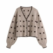 Wool knitwear Winter 2020 S,M,L As shown in the figure Long sleeves singleton  Cardigan other 81% (inclusive) - 90% (inclusive) routine street Straight cylinder V-neck 18-24 years old Europe and America