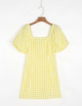 Dress Spring 2021 Yellow as shown in the picture, black as shown in the picture S,M,L Short skirt singleton  street square neck 18-24 years old Europe and America