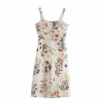 Dress Autumn 2020 As shown in the figure S,M,L Mid length dress singleton  street camisole 18-24 years old Europe and America