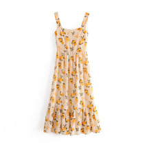 Dress Summer 2020 As shown in the figure S,M,L Mid length dress singleton  street camisole 18-24 years old Europe and America