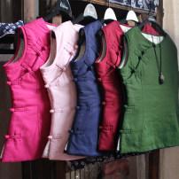 jacket Spring 2020 S,M,L,XL,XXL Dark green, dark blue, pink, rose, light gray, dark red Yu Xiang cotton 51% (inclusive) - 70% (inclusive)