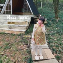 Dress Gao Guijin female UTOUTO 80cm, 90cm, 110cm, 120cm, 130cm, 140cm, 100cm (model try on) Other 100% winter lady Broken flowers other other 2 years old, 3 years old, 4 years old, 5 years old, 6 years old, 7 years old, 8 years old