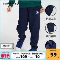 trousers Converse / converse male 120cm 130cm 140cm 150cm 110/50 110/53 160/66 160/69 spring and autumn trousers Sports pants Cotton 65% polyester 35% Spring 2021