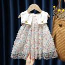 Dress female Other / other 80, 90, 100, 110, 120, 130 Other 100% summer fresh Skirt / vest Dot cotton A-line skirt 12 months, 9 months, 18 months, 2 years old, 3 years old, 4 years old, 5 years old, 6 years old
