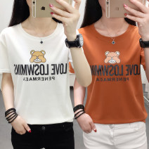 T-shirt M,L,XL,2XL,3XL,4XL,5XL Summer 2020 Short sleeve Crew neck easy routine commute cotton 71% (inclusive) - 85% (inclusive) 18-24 years old Korean version originality Cartoon animation, animal patterns, plants, flowers, geometric patterns, letters, numbers, landscape, architecture, characters