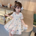 Dress White, pink female Other / other 90cm tag 90 is suitable for 1-2 years old, 100cm tag 100 is suitable for 2-3 years old, 110cm tag 110 is suitable for 3-4 years old, 120cm tag 120 is suitable for 4-5 years old, 130cm tag 130 is suitable for 5-6 years old summer Korean version Short sleeve other