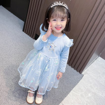 Dress Blue, pink, short sleeve blue, short sleeve pink female Other / other 90cm tag 90 is suitable for 1-2 years old, 100cm tag 100 is suitable for 2-3 years old, 110cm tag 110 is suitable for 3-4 years old, 120cm tag 120 is suitable for 4-5 years old, 130cm tag 130 is suitable for 5-6 years old