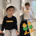 T-shirt Chen Chen's mother 80, 90, 100, 110, 120, 130, 140 male spring Long sleeves Crew neck leisure time There are models in the real shooting nothing cotton Cartoon animation Cotton 64% others 36% 12 months, 9 months, 18 months, 2 years old, 3 years old, 4 years old, 5 years old, 6 years old