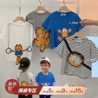 T-shirt Chen Chen's mother 80, 90, 100, 110, 120, 130, 140 male spring Short sleeve Crew neck leisure time There are models in the real shooting nothing cotton Cartoon animation Cotton 98% other 2% BJ2192 12 months, 9 months, 18 months, 2 years old, 3 years old, 4 years old, 5 years old, 6 years old