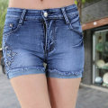 Jeans Summer 2017 8056, shorts and skirt 26,27,28,29,30,31,32,33, no return and exchange of special products, 34,36,38 shorts High waist Straight pants routine Make old, nail bead, wash, grind white Cotton elastic denim light colour
