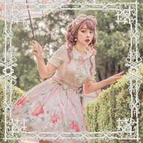 Lolita / soft girl / dress APUMPKIN Apricot, Burgundy, pink L, M No season Lolita, soft girl, Lolita