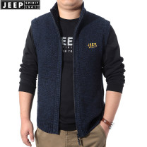 Vest / vest Business gentleman Jeep / Jeep M,L,XL,2XL,3XL Black, gray, blue go to work easy Vest routine autumn stand collar youth 2020 Business Casual SW0022 Solid color zipper Rib hem cotton Cotton 100% washing Zipper decoration nothing Side seam pocket More than 95%