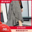 skirt Winter 2020 S,M,L,XL Grey, Khaki Mid length dress Versatile High waist Ruffle Skirt lattice Type A 18-24 years old 51% (inclusive) - 70% (inclusive) Wool cotton Ruffles, lace, bandage