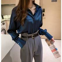 shirt Apricot, white, green, blue, white vest M,L,XL,2XL,3XL,4XL Autumn 2020 other 31% (inclusive) - 50% (inclusive) Long sleeves commute Polo collar Solid color Other / other Korean version