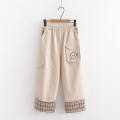 Casual pants Khaki, black S,M,L,XL Winter of 2019 trousers High waist Sweet routine 18-24 years old 51% (inclusive) - 70% (inclusive) cotton pocket cotton solar system