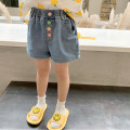 trousers EYAE KIDS female 90cm,100cm,110cm,120cm,130cm,140cm Denim blue summer shorts leisure time There are models in the real shooting Jeans Leather belt middle-waisted other Don't open the crotch Other 100% Class B Three, four, five, six, seven, eight, nine Chinese Mainland Zhejiang Province