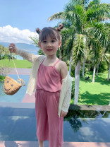 suit EYAE KIDS Pink 90cm,100cm,110cm,120cm,130cm,140cm female summer Korean version Sleeveless + pants 2 pieces routine There are models in the real shooting Socket nothing Solid color other friend Giving presents at school B21123 Class B Other 100% Three, four, five, six, seven, eight, nine Hangzhou
