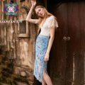 skirt Summer 2021 S M L Decor longuette Sweet Natural waist Pencil skirt Decor 25-29 years old More than 95% Lace Lian can polyester fiber printing Polyester 100% Same model in shopping mall (sold online and offline) Bohemia