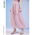 skirt Summer 2021 S M L violet longuette commute Natural waist 25-29 years old 71202TM53007 More than 95% Lian can polyester fiber Embroidery ethnic style Polyester 100% Same model in shopping mall (sold online and offline)