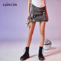 skirt Spring 2021 S M L dark gray Short skirt Natural waist 25-29 years old ST200221 71% (inclusive) - 80% (inclusive) Lian can cotton Cotton 76% polyester 22% viscose 2% Same model in shopping mall (sold online and offline)