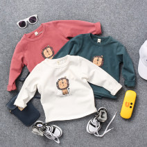 T-shirt Solid cartoon long t-white, solid cartoon long t-green, solid cartoon long T-red Other / other The recommended height is about 90cm for size 5, 100cm for size 7, 110cm for size 9, 120cm for size 11 and 130cm for size 13 male spring and autumn Long sleeves Crew neck leisure time nothing cotton