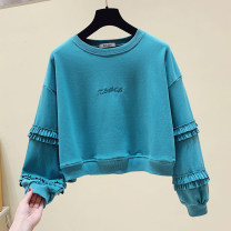 Sweater / sweater Autumn 2020 Blue, black, white S,M,L,XL Long sleeves singleton  easy commute letter 18-24 years old 81% (inclusive) - 90% (inclusive) Other / other cotton