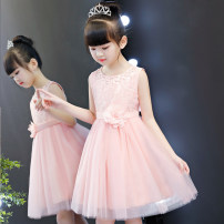 Dress female Polyester 100% summer princess Skirt / vest Solid color nylon A-line skirt Class B 2, 3, 4, 5, 6, 7, 8, 9, 10, 11 Chinese Mainland Guangdong Province Shantou City