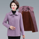Middle aged and old women's wear Winter of 2019, autumn of 2019 fashion woolen coat Self cultivation singleton  40-49 years old Cardigan thick Polo collar routine routine Polyester, others 96% and above Single breasted